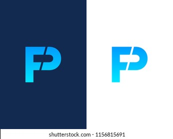 Letter P and F or PF logo design bold line style. Creative Minimal emblem design template. Graphic Alphabet Symbol for Corporate Business Identity. Creative Vector element