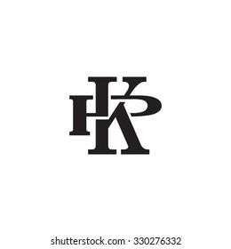 letter P and K monogram logo
