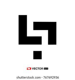letter P L logo template