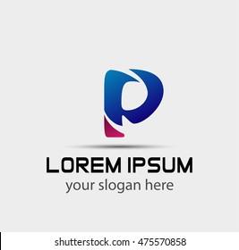 Letter P logo. Business logo vector illustration