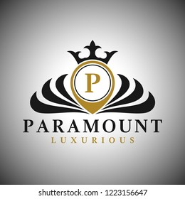 Letter P Logo - Classic Luxurious Style Logo Template