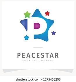 Letter P Logo Design with Colorful Polygon Comet, Logo Design Template Inspiration, App Icon Design