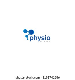 Letter P Logo design. Vector Abstract geometric physiotherapy logo