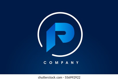 Letter P Logo. P Letter Design Vector with Flat Blue Colors.