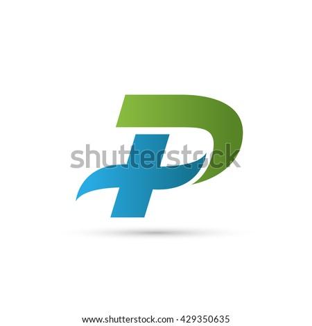letter p logo icon design template のベクター画像素材 ロイヤリティ