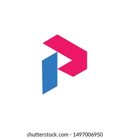 the letter p logo with a simple and modern style