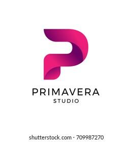 Letter P Logo, Logo Template