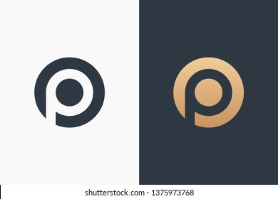 Letter P Logo Template Design Vector Illustration