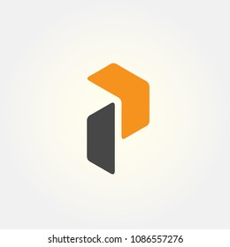 letter P logo vector, alphabet logo template