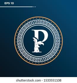 Letter P logo Vintage . Letter P minimalis. Letter P logo Designs. Letter P Retro