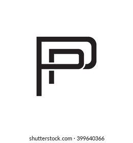 letter P and P monogram logo black