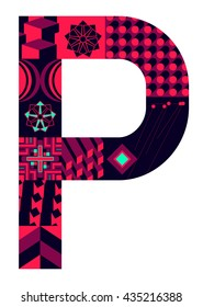Letter P from my letter collection