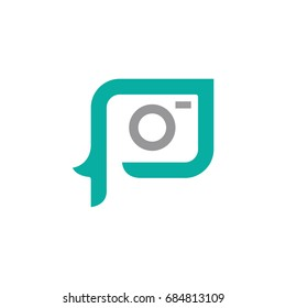 Letter P Photography Logo