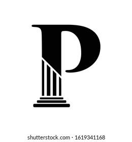 Letter P Pillar Law Logo