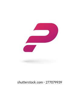 Letter P question mark logo icon design template elements
