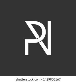 letter p r n symbol logo vector