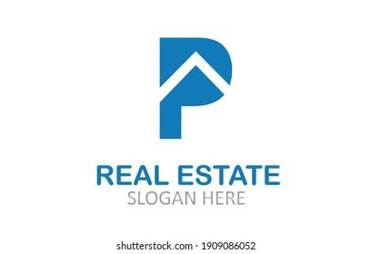 Letter P  Real Estate Logo Design
