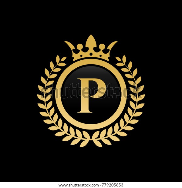 P Letter Images.Letter P Royal Crown Logo Stock Vector Royalty Free 779205853