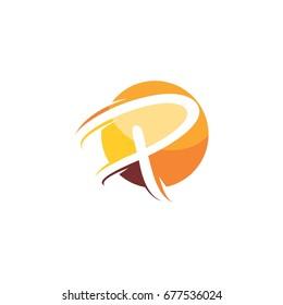 letter p sphere logo