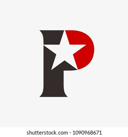 letter p and star logo