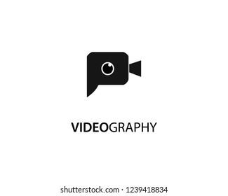 Letter P videography logo template design