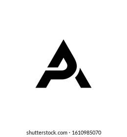 Letter PA initial logo design