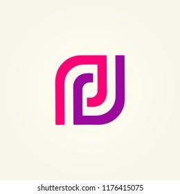 letter PD abstract vector, logo PD template, icon PD, alphabet logo vector