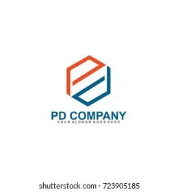 Letter PD Logo Company Vector Illustration