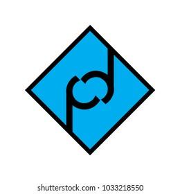 letter pd logo vector