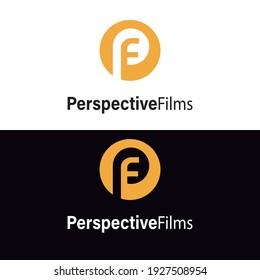 Letter PF P F logo combination inside a circle. OPF logo combination.