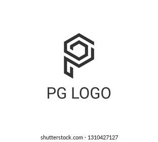 letter pg logo vector