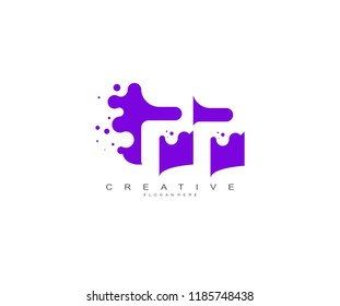 Letter PP Logo Design Vector with Abstract Square Shape Dots