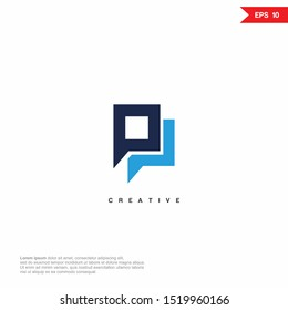 Letter PP modern Logo icon design. Premium Line Alphabet Monochrome Monogram emblem. Vector graphic design template element. Graphic Symbol for Corporate Business Identity.