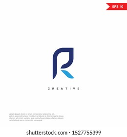 Letter PR, RP Logo icon monogram design. Vector graphic design template element.