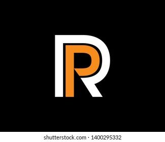 Letter PR or RP Logo Template, Icon, Symbol
