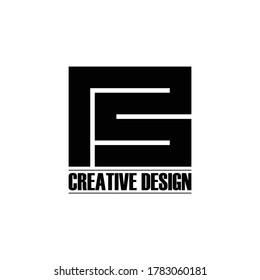 Letter PS simple monogram logo design vector