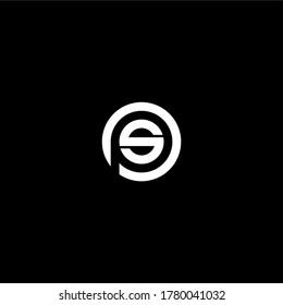 Letter PS SP Initial Logo Design Vector Template Illustration