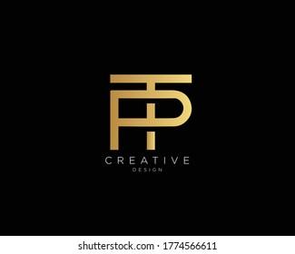 Letter PT TP Logo Design , Creative Minimal PT TP Monogram