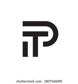 Letter PT, TP logo design