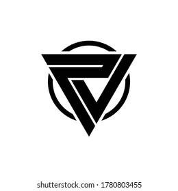 Letter PV logo design vector. simple monogram icon