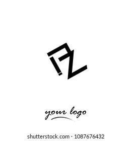 Letter PZ abstract logo. Vector illustration