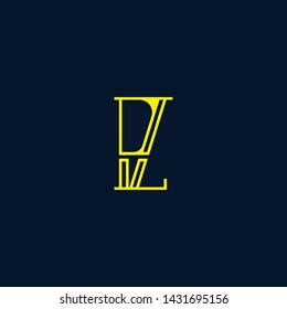 Letter PZ ZP P Z Clean and Minimal Initial Based Logo Design