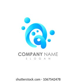 Letter Q With Bubble, Initial Letter Logo For Your Company Name, Alphabet Logo Template Ready For Use, Modern Initial Logo