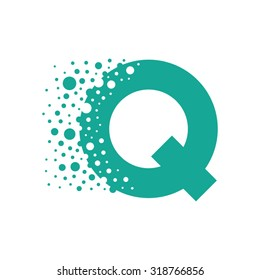 Letter Q Bubbles Vector