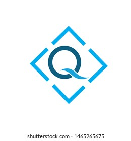 Letter Q Business corporate abstract unity vector logo design template Letter Q Logo Template vector icon design