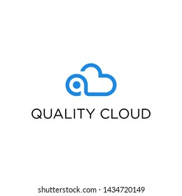 Letter q by forming quality clouds.