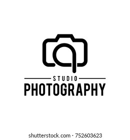 letter q camera photography logo vector