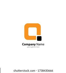 letter q logo concept on white background
