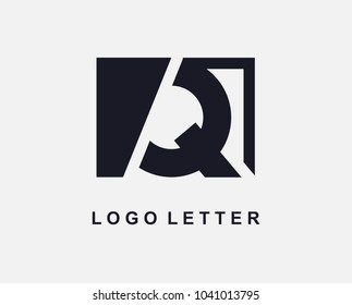 Letter Q Logo Design With Square
