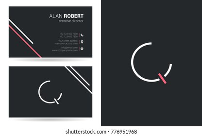 Letter Q Logo Icon with Business Card Template Vector.